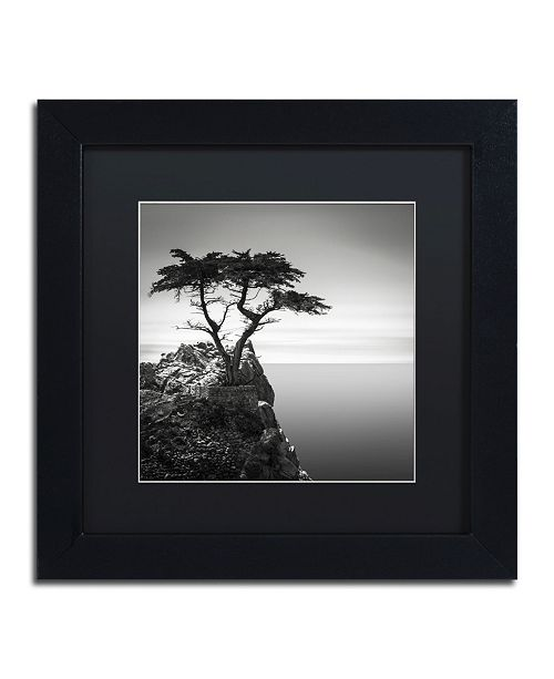 "Trademark Global Dave MacVicar 'The Lone Cypress' Matted Framed Art - 11"" x 11"" x 0.5"""