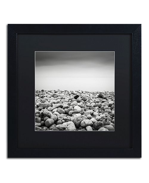 "Trademark Global Dave MacVicar 'Pebble Beach' Matted Framed Art - 16"" x 16"" x 0.5"""
