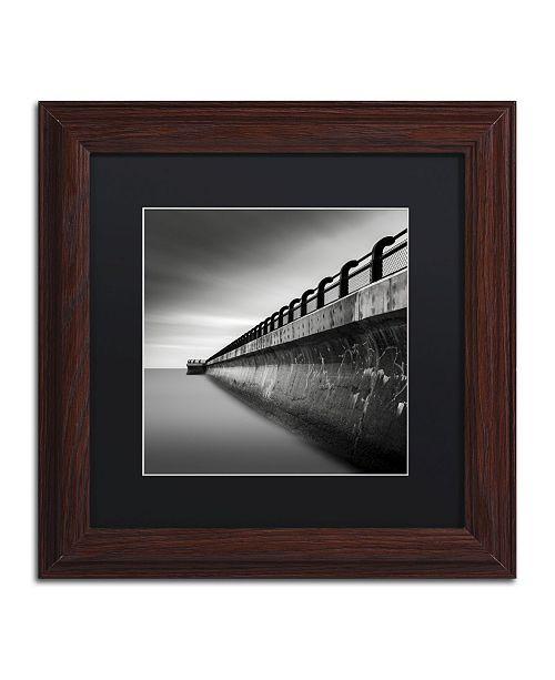 "Trademark Global Dave MacVicar 'Water Works 2' Matted Framed Art - 11"" x 11"" x 0.5"""