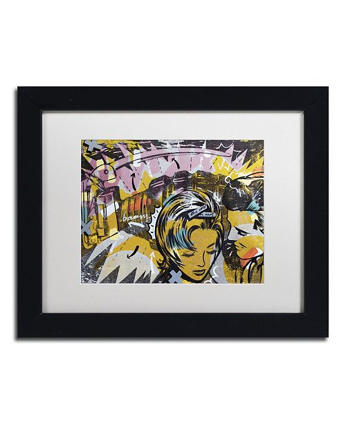 "Trademark Global Dan Monteavaro 'Surprise B' Matted Framed Art - 11"" x 14"" x 0.5"""