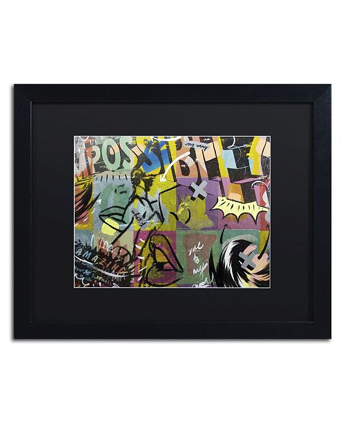 "Trademark Global Dan Monteavaro 'IMPOSSIBLE' Matted Framed Art - 16"" x 20"" x 0.5"""