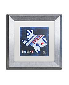 "Design Turnpike 'Texas License Plate Map' Matted Framed Art - 11"" x 11"" x 0.5"""