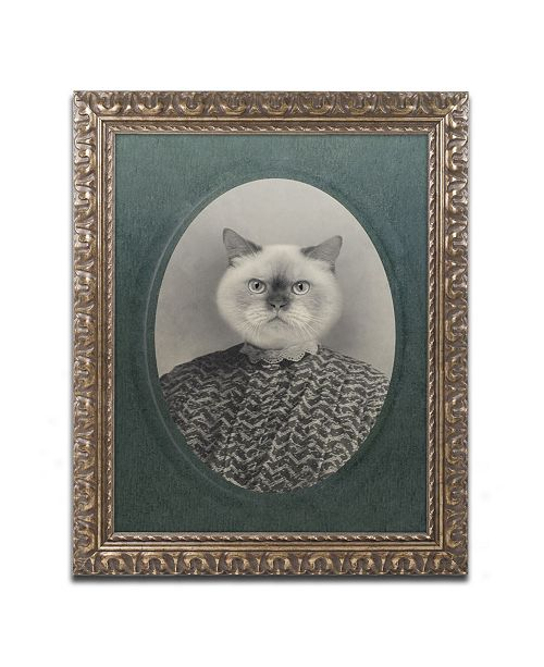 "Trademark Global J Hovenstine Studios 'Cat Series #1' Ornate Framed Art - 14"" x 11"" x 0.5"""