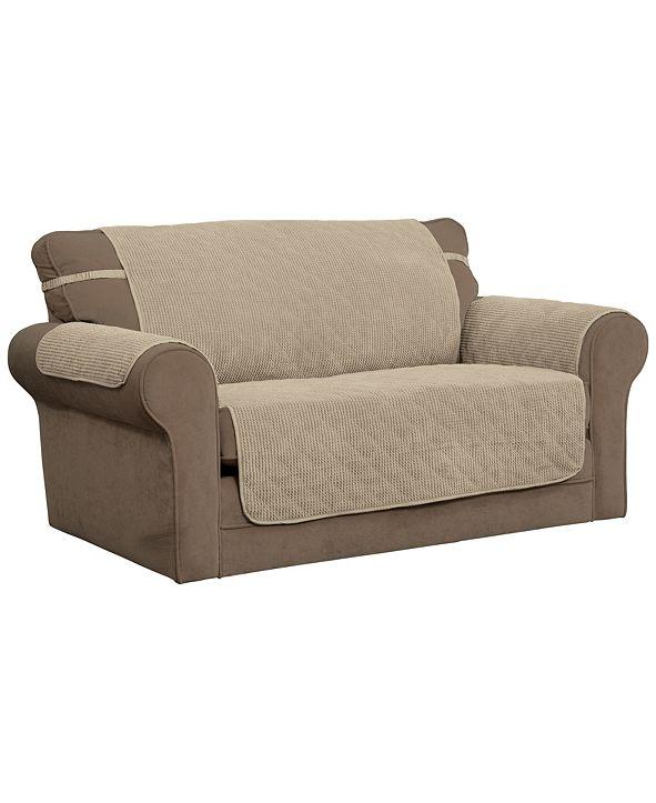 P/Kaufmann Home Ripple Plush Sofa Protector