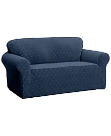 Stretch Sensations Stretch Ogee Slipcover for a Sofa.