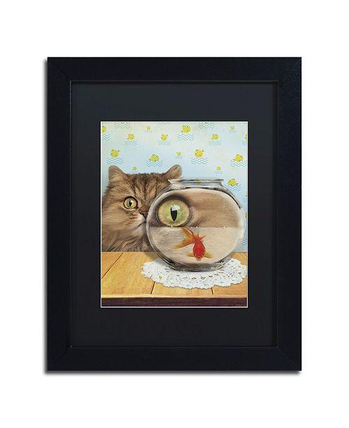 "Trademark Global J Hovenstine Studios 'Cat Series #3' Matted Framed Art - 11"" x 14"" x 0.5"""