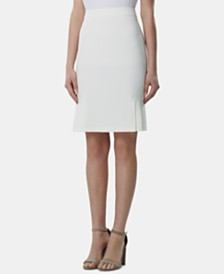 Tahari ASL Petite Pleated-Hem Pencil Skirt