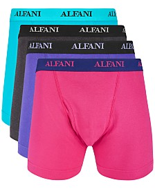 Alfani Men's 4-Pk. Cotton Boxer Briefs, Created for Macys