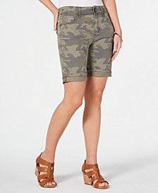 Two-Button Denim Shorts, Created for Macy's