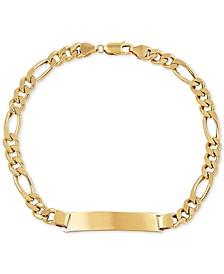 Men's Figaro Link ID Bracelet in 10k Gold