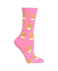 Women's Bunny Tails Fashion Crew Socks