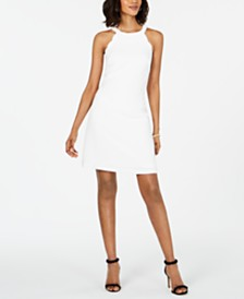 Adrianna Papell Scalloped A-Line Dress