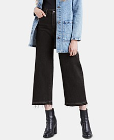 Mile High Wide-Leg Cropped Jeans