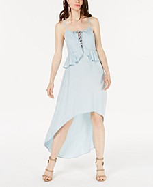 Chambray High-Low A-Line Dress