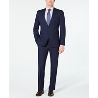 Van Heusen Men's Slim-Fit Flex Stretch Wrinkle-Resistant Pindot Suit
