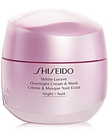 White Lucent Overnight Cream & Mask, 2.6-oz.