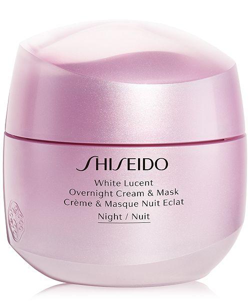 Shiseido White Lucent Overnight Cream & Mask, 2.6-oz.