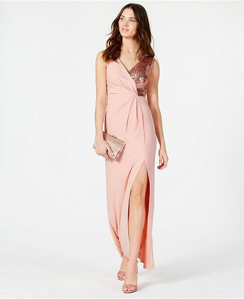 a289634a Vince Camuto Sequined Surplice Gown; Vince Camuto Sequined Surplice Gown ...