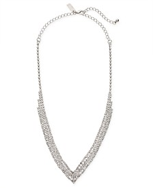 "INC Silver-Tone Crystal Pavé Choker Necklace, 12"" + 3"" extender, Created for Macy's"