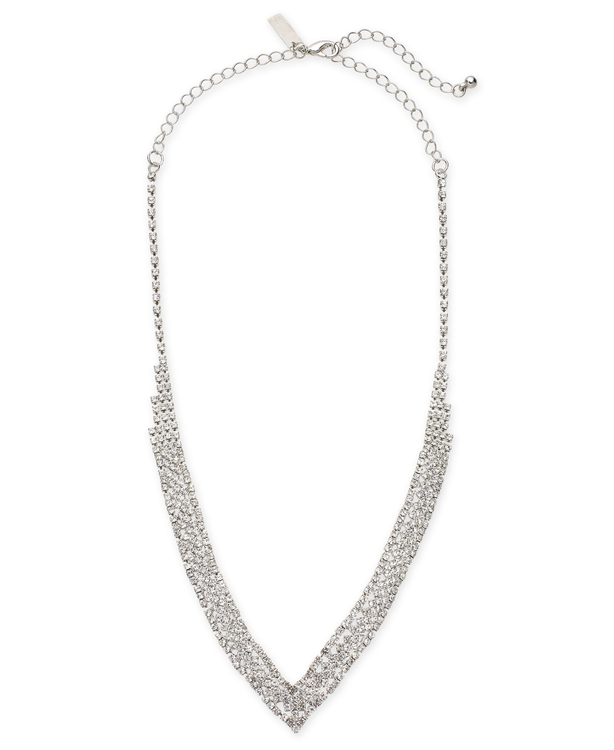Inc International Concepts Silver-Tone Crystal Pave Choker Necklace, 12