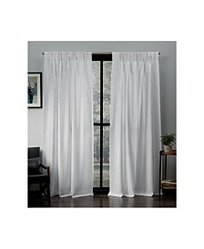 Exclusive Home Loha Linen Pinch Pleat Curtain Panel Pair