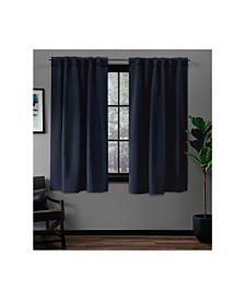 Exclusive Home Sateen Twill Woven Blackout Hidden Tab Curtain Panel Pair