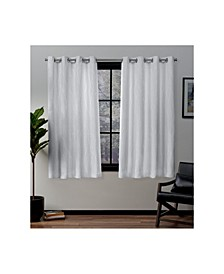 Forest Hill Woven Blackout Grommet Top Curtain Panel Pair