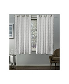 Cartago Insulated Woven Blackout Grommet Top Curtain Panel Pair