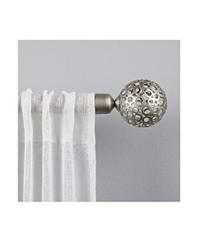 "Exclusive Home Globe 1"" Curtain Rod and Coordinating Finial Set"