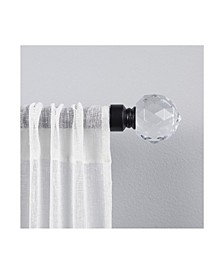 """Crystal Ball 1"""" Curtain Rod and Coordinating Finial Set"""