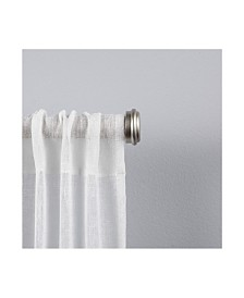"""Exclusive Home Topper 1"""" Curtain Rod and Coordinating Finial Set"""