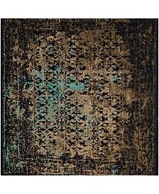 Safavieh Classic Vintage Black and Olive 6' x 6' Square Area Rug