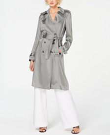 I.N.C. Metallic Trench Coat, Created for Macy's