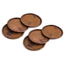 CLOSEOUT! Congo Sunset Torched Copper Finish Coasters, Set of 6