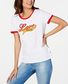 Tommy Hilfiger Love-Graphic Ringer T-Shirt, Created for Macy's