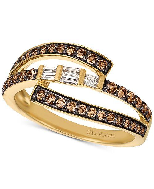 Le Vian Baguette Frenzy® Diamond Ring (1/2 ct. t.w.) in 14k Gold