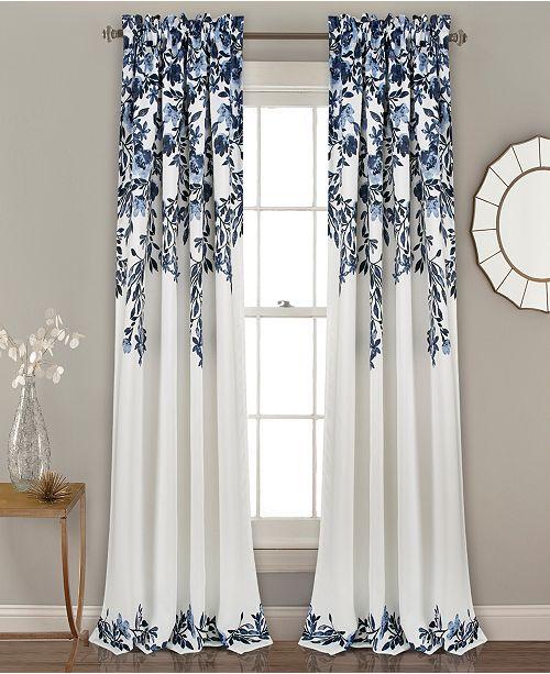 "Lush Decor Tanisha Room Darkening Window Curtain Panel Set, 52""x84"""