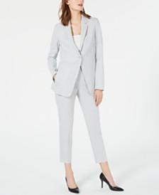 Elie Tahari Hillary Single-Button Jacket & Marcia Straight-Leg Pants