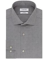 4d121eb9e Calvin Klein Men's Slim-Fit Dot-Print Dress Shirt