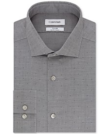 Calvin Klein Men's Slim-Fit Dot-Print Dress Shirt