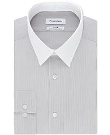 Men's Slim-Fit Stripe Dress Shirt