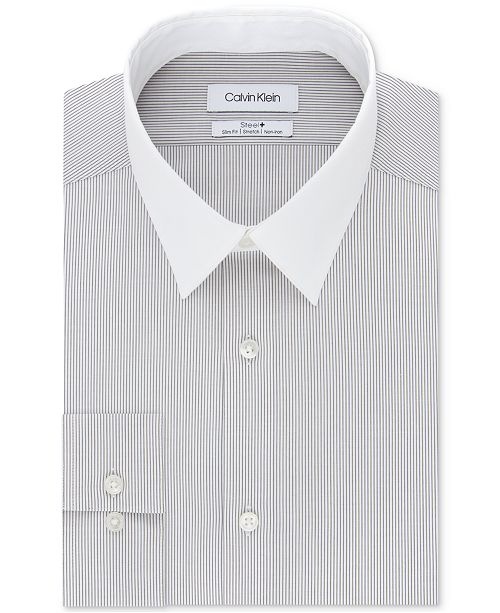 Calvin Klein Men's Slim-Fit Stripe Dress Shirt