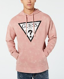 GUESS Men's Go Tie-Dyed Logo Hoodie