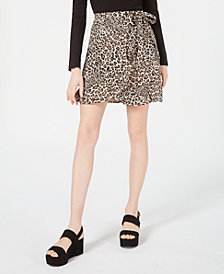 Planet Gold Juniors' Printed Wrap Skirt