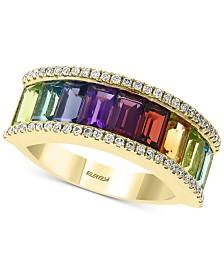 EFFY® Multi-Gemstone (3-1/3 ct. t.w.) & Diamond (1/5 ct. t.w.) Ring in 14k Gold
