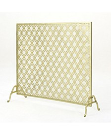 Ellias Single Panel Gold Iron Fire Screen