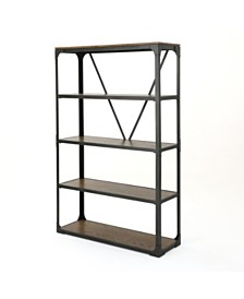 Lowell Outdoor Industrial Faux Wood Shelf, Quick Ship