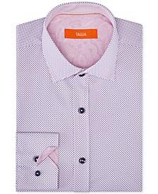 Orange Men's Slim-Fit Performance Stretch Mini Dot Dress Shirt