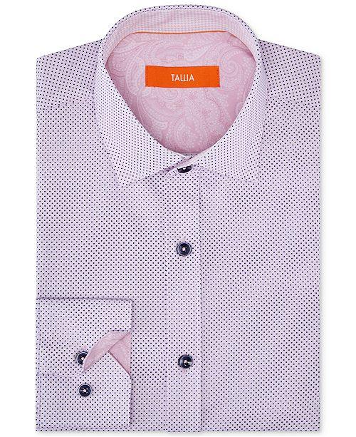 Lt Tallia pois a OrangeChemise Homme Rose stretch superposes et revues Chemises pour habillee hommes OXiukZP
