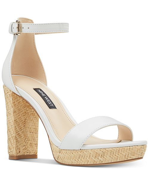 84b687e484b4 Nine West Dempsey Platform Sandals   Reviews - Shoes - Macy s
